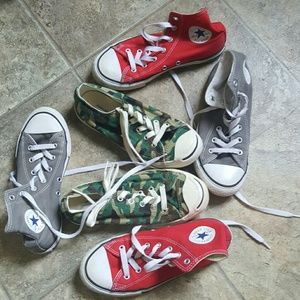 Boys Converse All Star,Jack Purcell lot 3 pairs